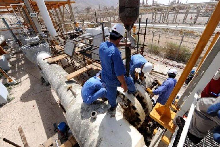 پارس جنوبی تعمیرات اساسی پالایشگاه چهارم مجتمع گاز پارس جنوبی آغاز شد offshore215 765x510