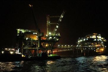 دستگاه حفاری مورب در آبهای خلیج فارس در مدار عملیات قرار گرفت