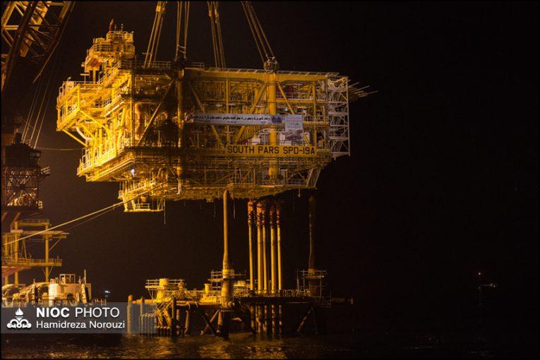 سکوی ۱۹A پارس جنوبی عملیات نصب سکوی ۱۹A پارس جنوبی به اتمام رسید offshore479 765x510