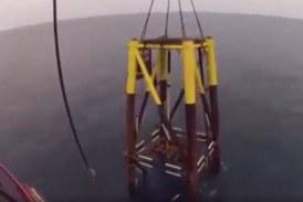 نصب جاکت در دریا به روش لیفتینگ