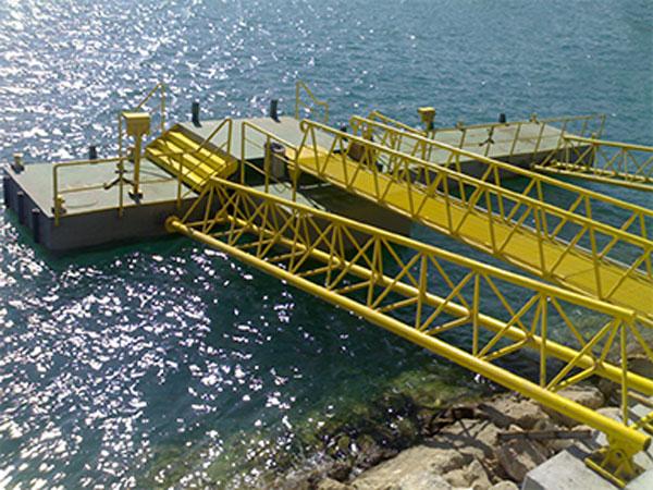 سازه های دریایی سنگین |قطعات پلی یورتان |اسکله شناور 11