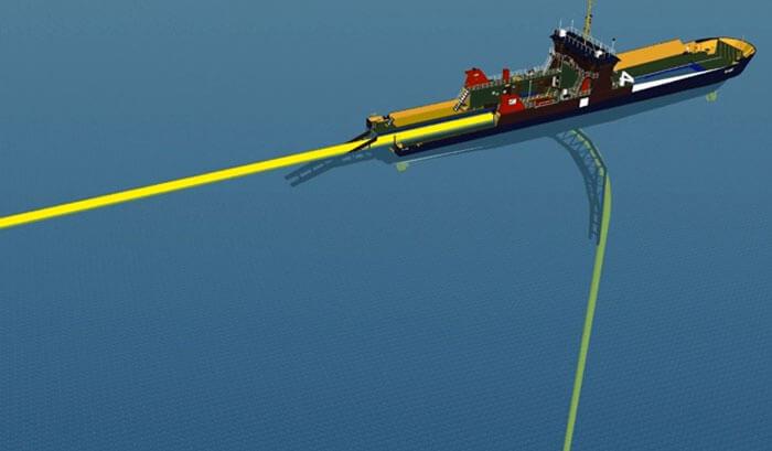 olay15  لولهگذاری دریایی به روش دایرهای- O-Lay Method olay15