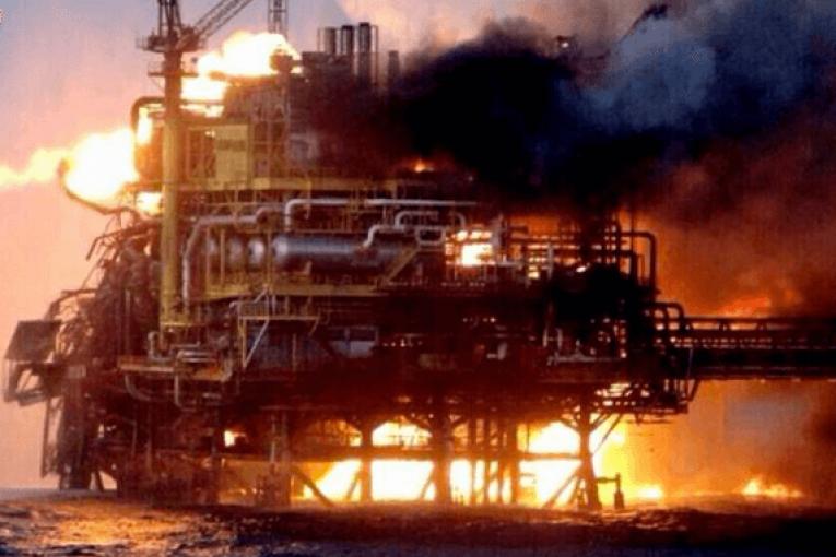 سکوی نفتی پایپر آلفا فاجعه انفجار سکوی نفتی پایپر آلفا بدترین حادثه تاریخ سکوهای نفتی Alpha 765x510