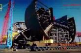 مراحل انتقا ل و نصب سکوی نفتی  پردیدو