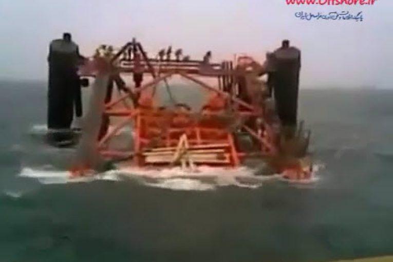 غرق شدن جاکت 1800 تنی فاز 13 پارس جنوبی در سال 91 offshore520 1 765x510