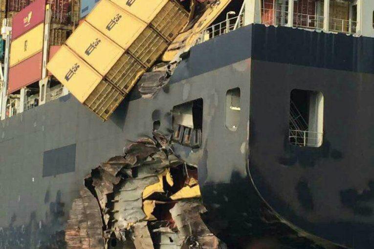 نفتکش تصادف کشتی نفت کش ایرانی در تنگه سنگاپور offshore522 765x510
