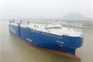 به آب اندازی اولین شناور حمل خودرو با سوخت LNG