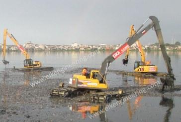 بیل مکانیکی برای محیط های باتلاقی و رودخانه ای