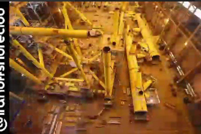 مراحل ساخت جکت در کارگاه  تصویر برداری بصورت مرور زمان از ساخت جکت در کارگاه offshore701 765x510