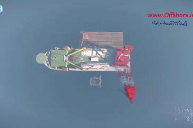 انیمیشن جالب نصب  جاکت توسط شناور اوشنیک 5000 offshore708 765x510