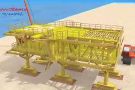 انیمیشن مراحل ساخت سکوی نفتی