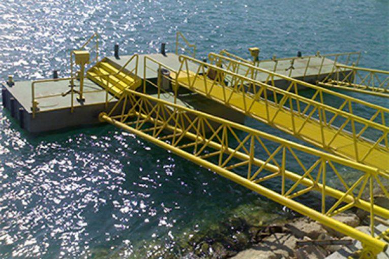 سازه های دریایی سنگین |قطعات پلی یورتان |اسکله شناور 11 765x510