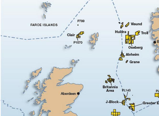 میدان کلیر  10میدان بزرگ نفتی در دریای شمال 15