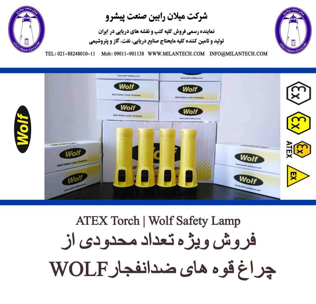 چراغ قوه ضد انفجار چراغ قوه های ضد انفجار چراغ قوه های ضد انفجار WOLF flashlight